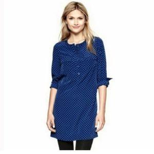 Gap Deborah Blue Pocket Polka Dot Shirt Dress XS